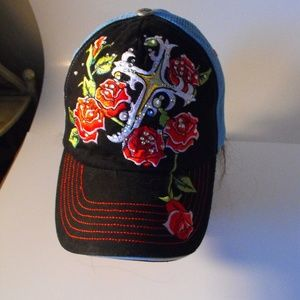 Women's Jolly Roger Trucker Hat Adjustable